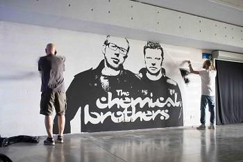 """Pagarbą """"The Chemical Brothers"""" nauju piešiniu išreiškė Svaras ir DJ Swix"""