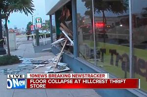 Kalifornijoje dėl per didelio vinilų svorio sugriuvo muzikos įrašų parduotuvė (+ video)