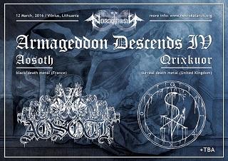 "Festivalio ""Armageddon Descends IV"" vartus atvers britai QRIXKUOR"