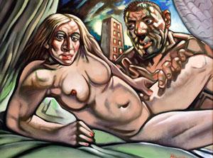 Skandalingas nuogos Madonnos ir jos vyro paveikslas nerado savo pirkėjo