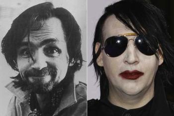 Marilyn Manson'as sulaukė atvirlaiškio iš jo sceninį vardą įkvėpusio žudiko