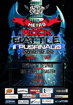 """Po pirmojo """"Metro Rock Battle"""" pusfinalio aiškėja tolesni dalyviai"""