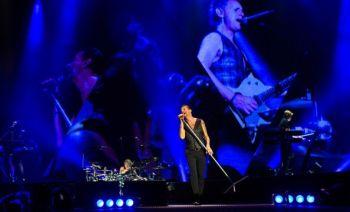 """Įspūdingas startas: """"Depeche Mode"""" Nicoje pradėjo pasaulines gastroles, kurių metu gros ir Vilniuje"""