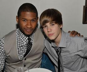 Usheris gailisi išgarsinęs Justiną Bieberį: